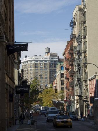 Spring Street, Soho, Manhattan, New York City, New York, USA Stretched Canvas Print