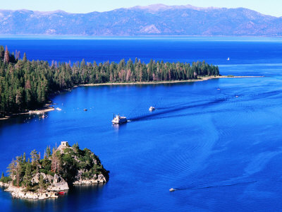Emerald Bay, Lake Tahoe, California Stretched Canvas Print