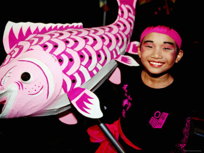 Boy with Fish at CHINGAY Chinese New Year Party, Singapore ...