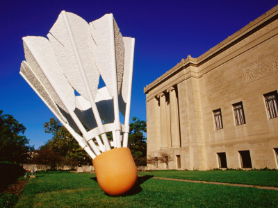 Giant Shuttlecock Sculpture at Nelson-Atkins Museum of Art, Kansas City, Missouri Stretched Canvas Print