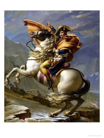 Napoleon Crossing the Alps c1800 œuvre par Jacques-Louis David
