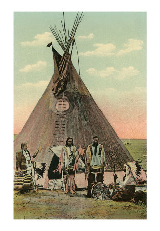 Plains Indians Tepee Print at Art.