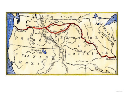 1804 lewis and clark. Map of the Lewis and Clark