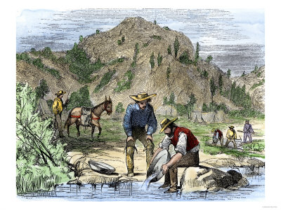 gold rush california. Gold Rush Prospectors Washing