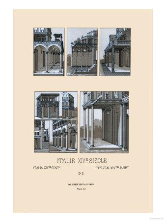 italy  urban architecture of tuscany  1300 1600 premium poster