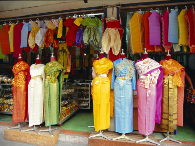 Asia Fashion on Clothing On Sale  Bangkok  Thailand  Asia Photographic Print By Robert