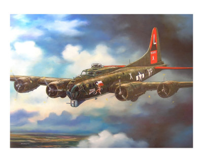 B-17 Flying Fortress Giclee Print by jack connelly at Art.com