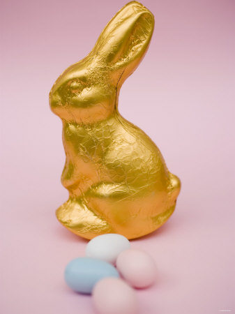 easter bunny pictures to print. Gold Easter Bunny and Sugar