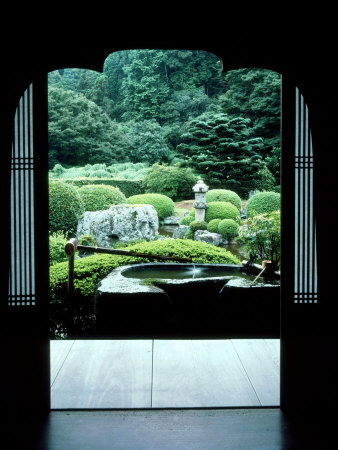 View from the Temple Window, Kiyomizudera, Kyoto, Japan Stretched Canvas Print
