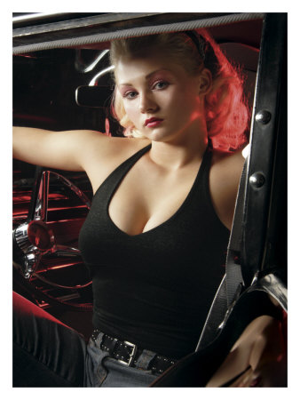 Hot Rod Pin-Up Girl Giclee