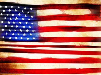 waving american flag background. old american flag background.