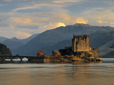 Eilean Donan Castle, Western Highlands, Scotland Stretched Canvas Print