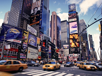 Times Square, New York City, USA Stretched Canvas Print