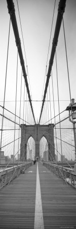 Manhattan and Brooklyn Bridge, New York City, USA Stretched Canvas Print