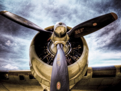 1945: Single Engine Plane Stretched Canvas Print