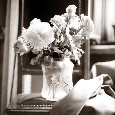 Study of Floral Arrangement Stretched Canvas Print