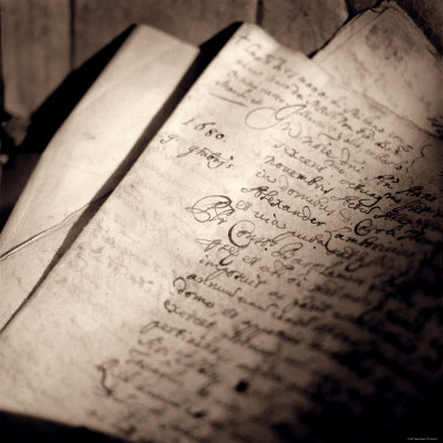 Detail of Manuscript Stretched Canvas Print