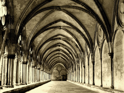 Salisbury Arches Stretched Canvas Print