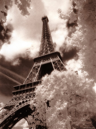 Eiffel Tower, Paris, France Stretched Canvas Print