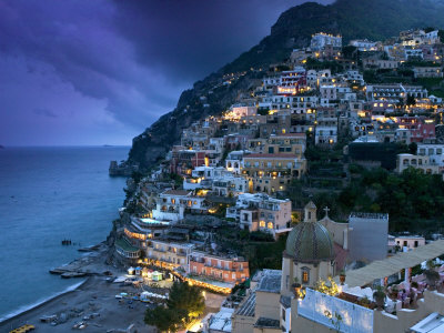 Positano, Amalfi Coast, Italy Stretched Canvas Print