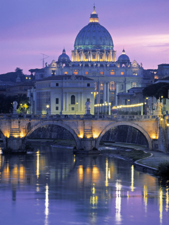 St. Peter's Basilica, Rome, Italy Stretched Canvas Print