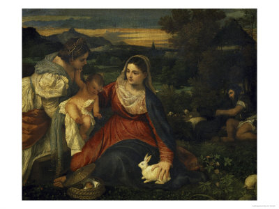 Virgin and Child with Saint Catherine c1530Venus And Adonis Titian