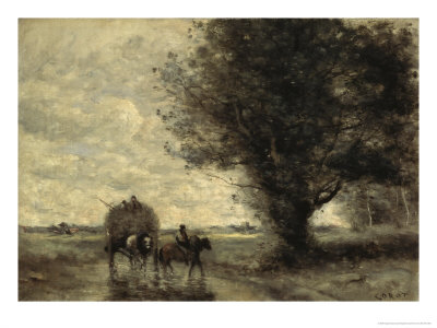 the haycart giclee print by jean baptiste camille corot at eu art com