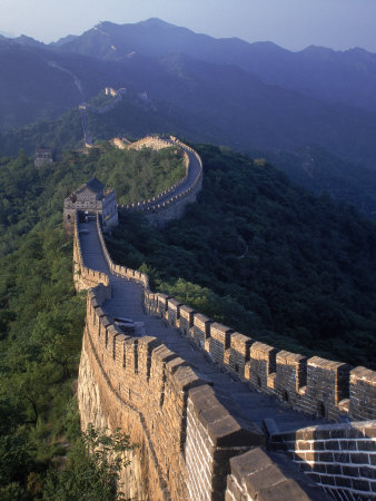 The Great Wall, Beijing, China Stretched Canvas Print