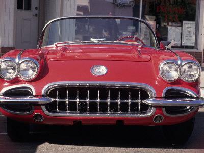 Vintage Chevrolet Corvette Stretched Canvas Print