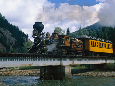 Durango-Silverton Line, CO Stretched Canvas Print