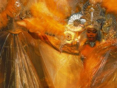 Samba Dancers, Rio de Janeiro, Brazil Stretched Canvas Print