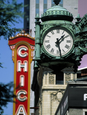 Landmarks on Two State St, Chicago, IL Stretched Canvas Print