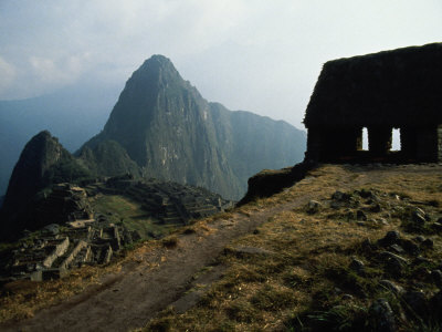 Macchu Picchu, Peru Stretched Canvas Print