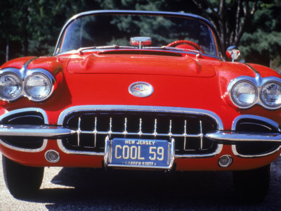 1959 Corvette Convertible Stretched Canvas Print