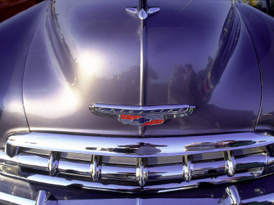 Close-up of a Chevrolet Car Stretched Canvas Print