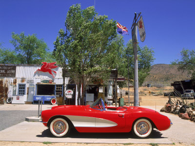 1957 Chevrolet Corvette, Hackberry, AZ Stretched Canvas Print
