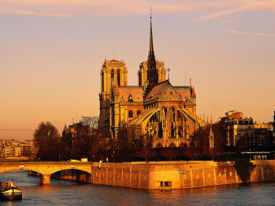 Morning Light on Notre Dame, Paris, France Stretched Canvas Print