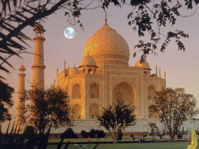 Taj Mahal, Agra, India Stretched Canvas Print