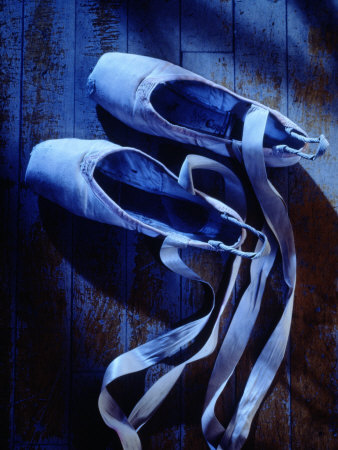 Ballet Shoes Stretched Canvas Print