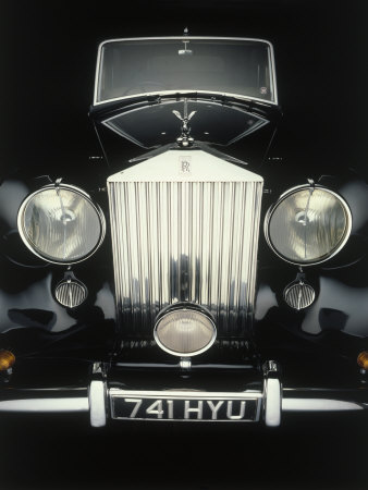 Front End of Old Rolls Royce Stretched Canvas Print