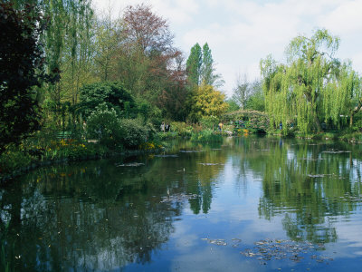 Giverny Gardens Stretched Canvas Print