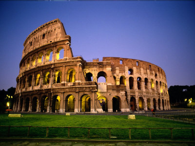 Colosseum at Dusk Stretched Canvas Print