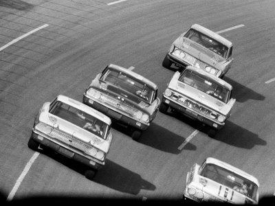 Daytona 500 in Progress Stretched Canvas Print
