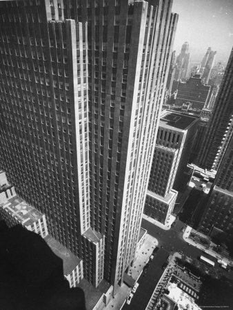Panorama of RCA Building at Rockefeller Center Between 49th and 50Th, on the Avenue of the Americas Stretched Canvas Print