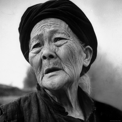 Chinese Girls on Old Chinese Peasant Woman Photographic Print By Carl Mydans At Art Com
