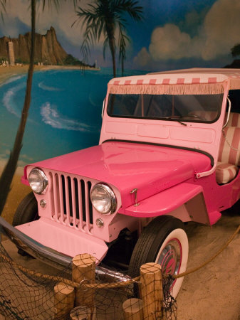 Pink Jeep, Elvis Presley Automobile Collection Museum, Memphis, Tennessee, USA Stretched Canvas Print