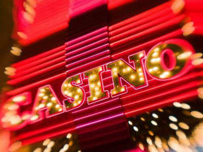 Freemont Street Experience, Downtown Binion's Horseshoe Casino, Las Vegas, Nevada, USA Stretched Canvas Print
