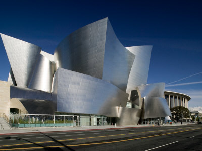 Walt Disney Concert Hall, Los Angeles, California, USA Stretched Canvas Print