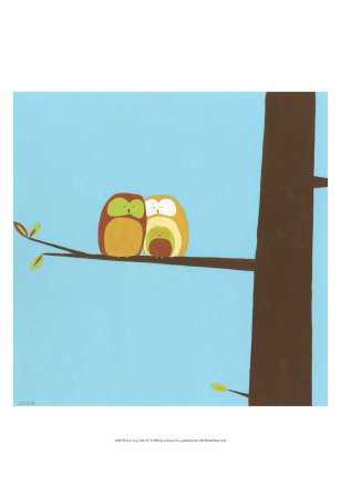 Treetop Owls IV Print. zoom. view in room