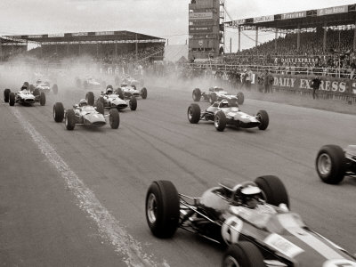 Start of the British Grand Prix at Siverstone, 1965 Stretched Canvas Print